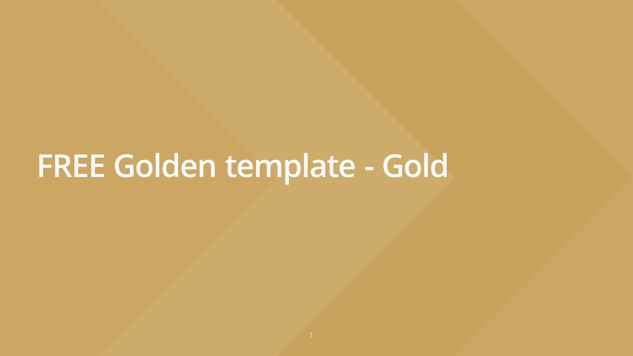 Slideist | FREE Golden PowerPoint template