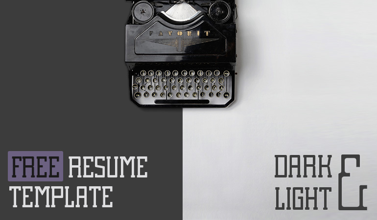 Slideist | Free Cv / Resume Powerpoint Template